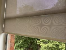 5 x Grey fabric window roller blinds