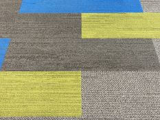65 x Dark grey rectangular carpet tiles