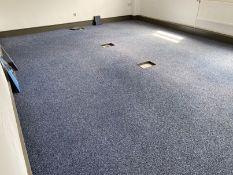 Blue carpet tiles 6.2m x 4.4m