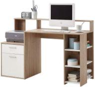 FMD Elton Desk 139 cm - Oak-White