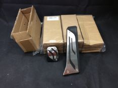 Stainless steel car pedal covers joblot