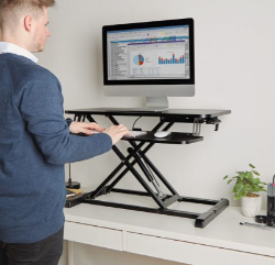 Gas Assisted Sit Stand Rising Workstation