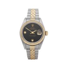 Rolex Datejust 26 79173 Ladies Stainless Steel Diamond Onyx Watch