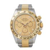 Rolex Daytona 116503 Men Yellow Gold & Stainless Steel Diamond Chronograph Watch