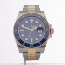 Rolex Submariner Date 116613LB Men Yellow Gold & Stainless Steel Watch
