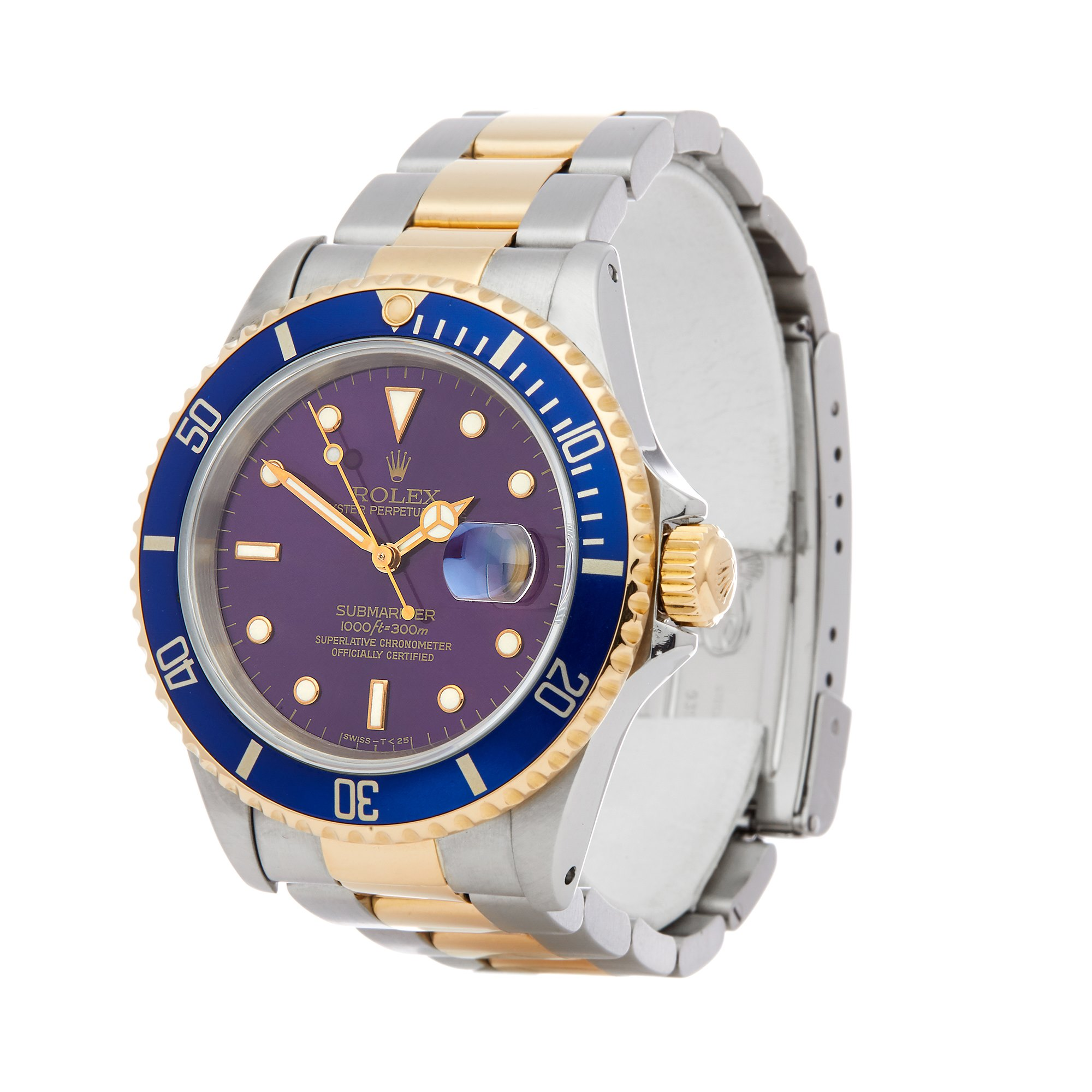 Rolex Submariner Date 16613 Men Stainless Steel & Yellow Gold Watch - Image 8 of 8