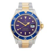 Rolex Submariner Date 16613 Men Stainless Steel & Yellow Gold Watch