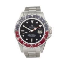 Rolex GMT-Master II 16760 Men Stainless Steel Fat Lady Coke Watch