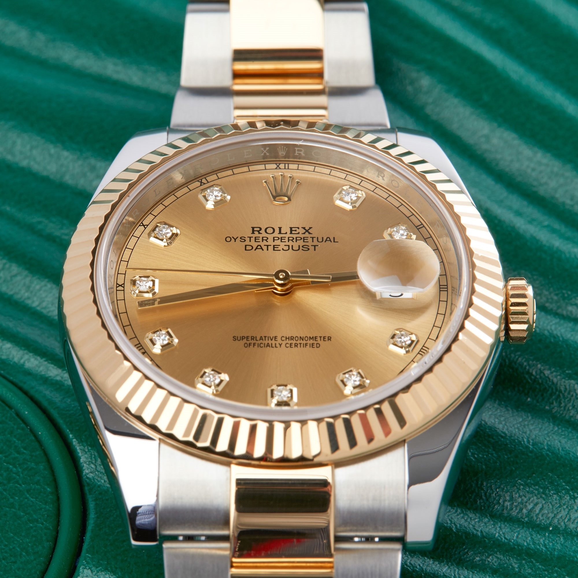 Rolex Datejust 41 126333 Men Yellow Gold & Stainless Steel Diamond Watch - Image 7 of 10