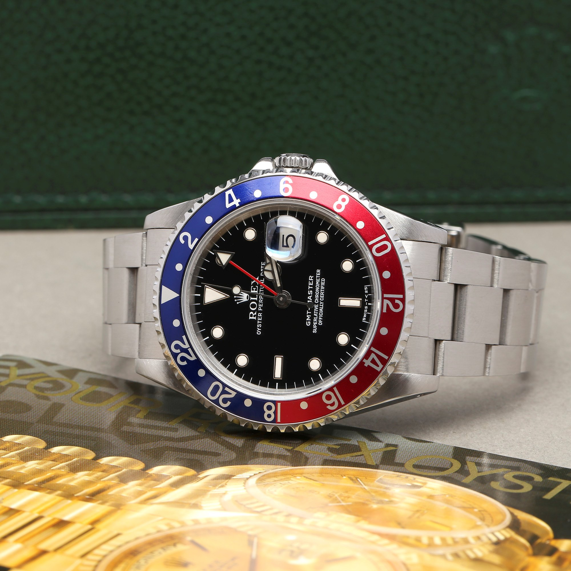 Rolex GMT-Master 16700 Men Stainless Steel Pepsi Serif Fat Font Watch - Image 3 of 11