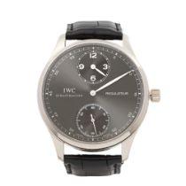 W5128-IWC Regulateur IW544404 Men White Gold Watch