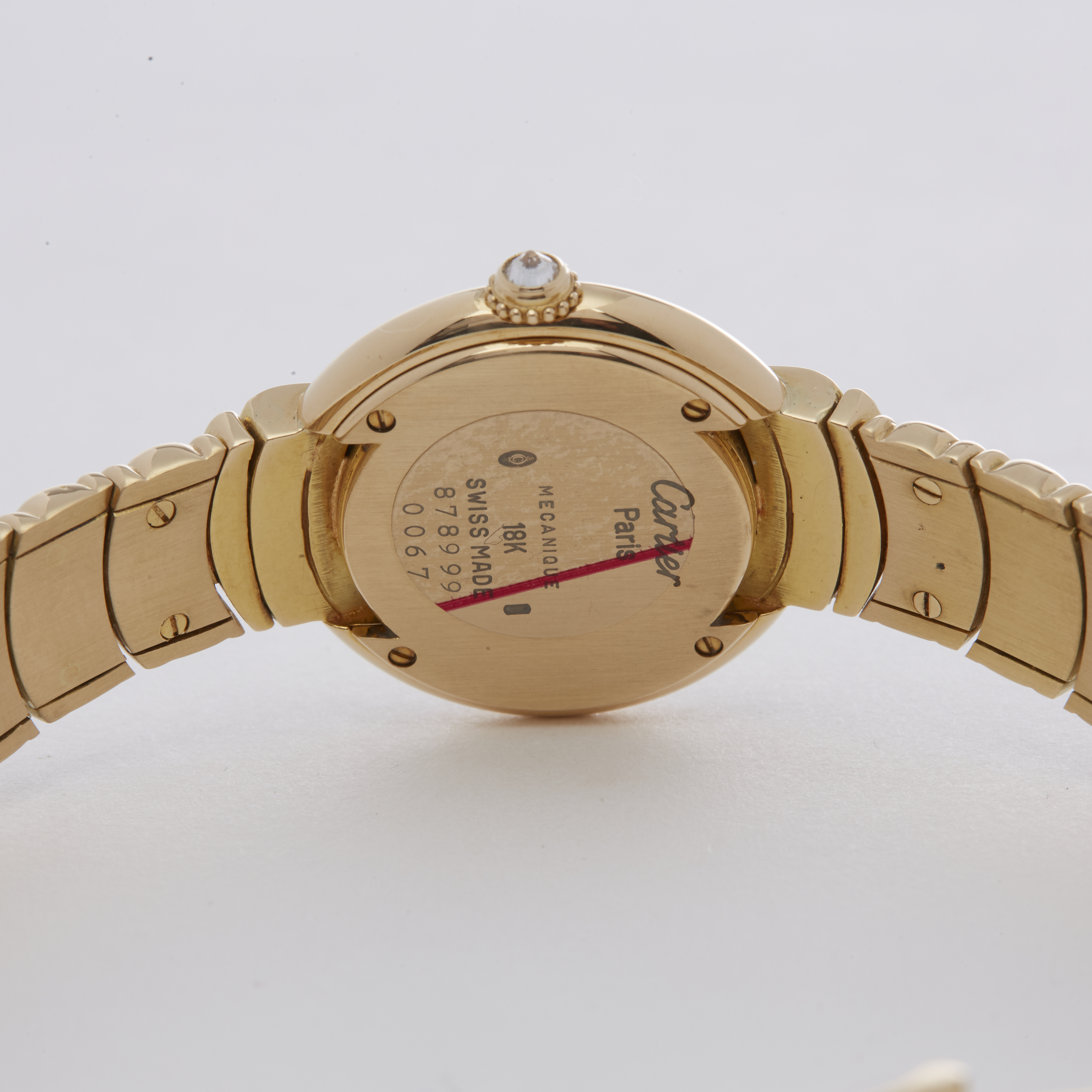 Cartier Vendome 878999 Ladies Yellow Gold Paris Mecanique Diamond Watch - Image 2 of 6