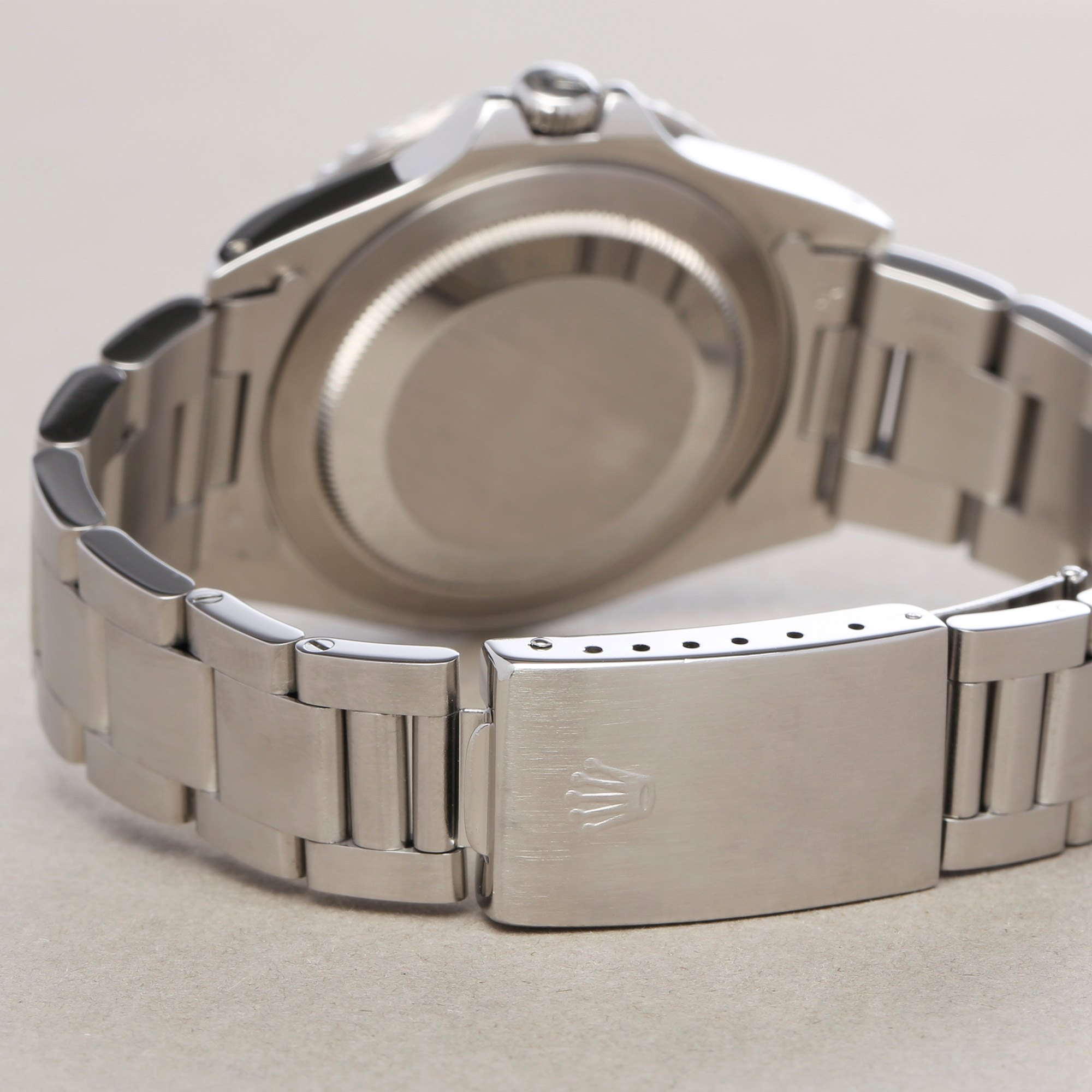Rolex GMT-Master 16700 Men Stainless Steel Pepsi Serif Fat Font Watch - Image 8 of 11