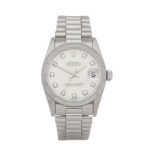 Rolex Datejust 31 68279 Ladies White Gold Diamond Watch
