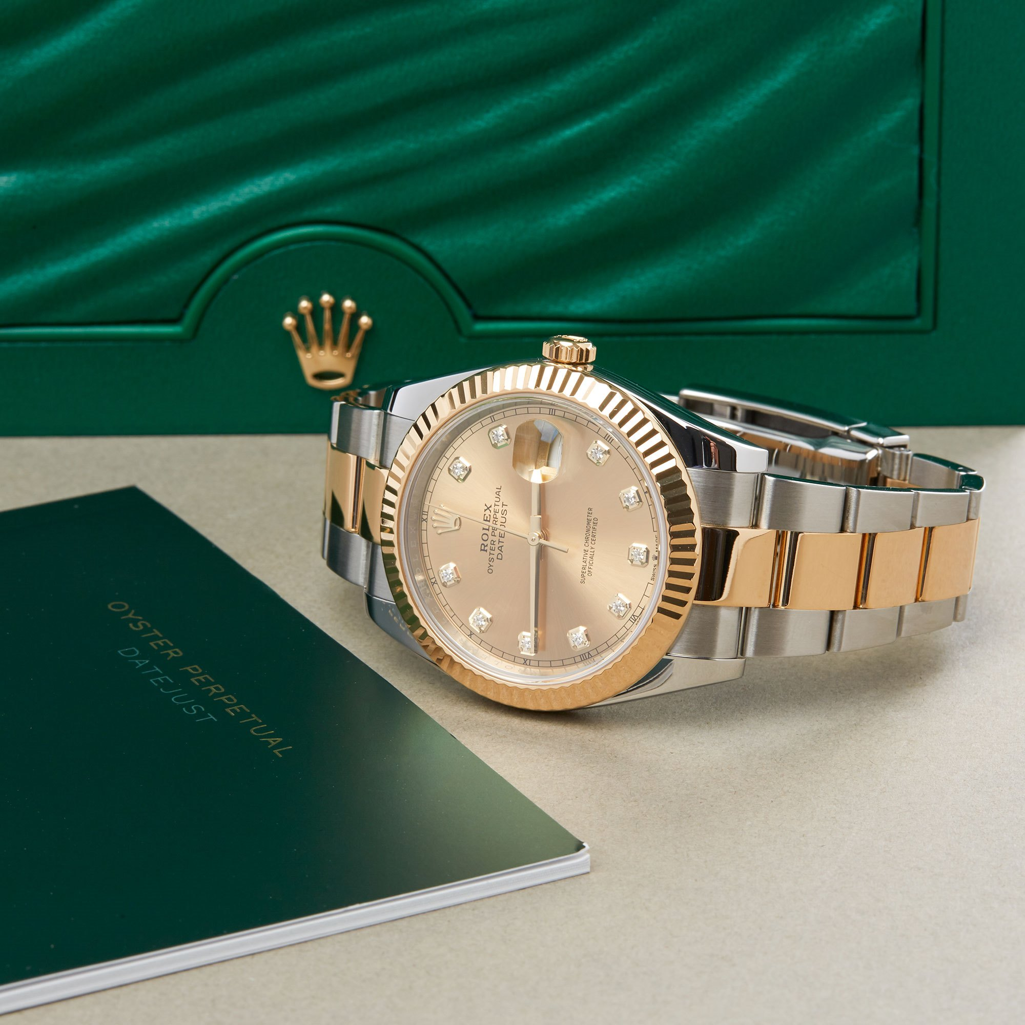 Rolex Datejust 41 126333 Men Yellow Gold & Stainless Steel Diamond Watch - Image 3 of 10