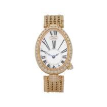 Breguet Reine de Naples 8928BA/51/J20 DD00 Ladies Yellow Gold Diamond Mother of Pearl Watch