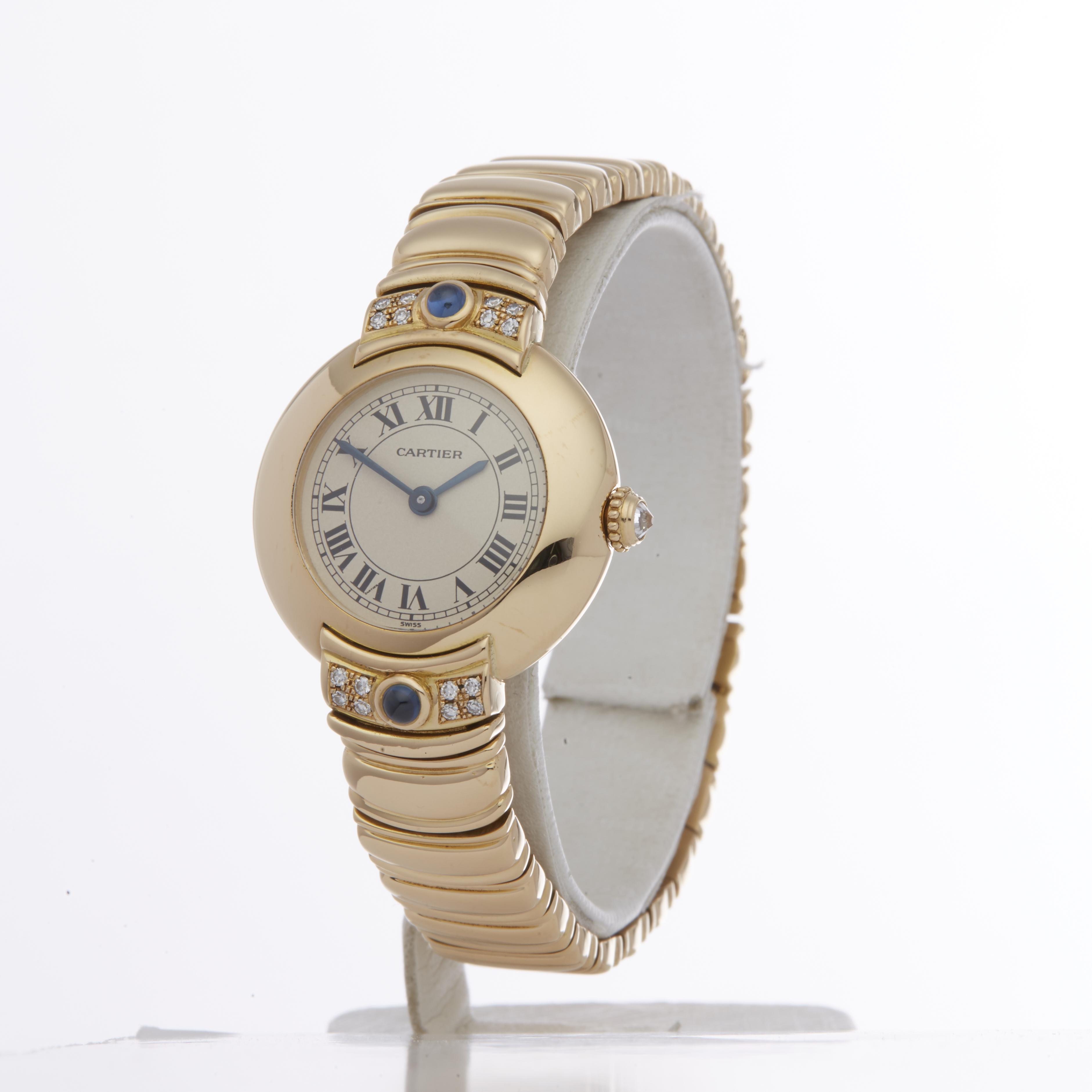 Cartier Vendome 878999 Ladies Yellow Gold Paris Mecanique Diamond Watch - Image 6 of 6