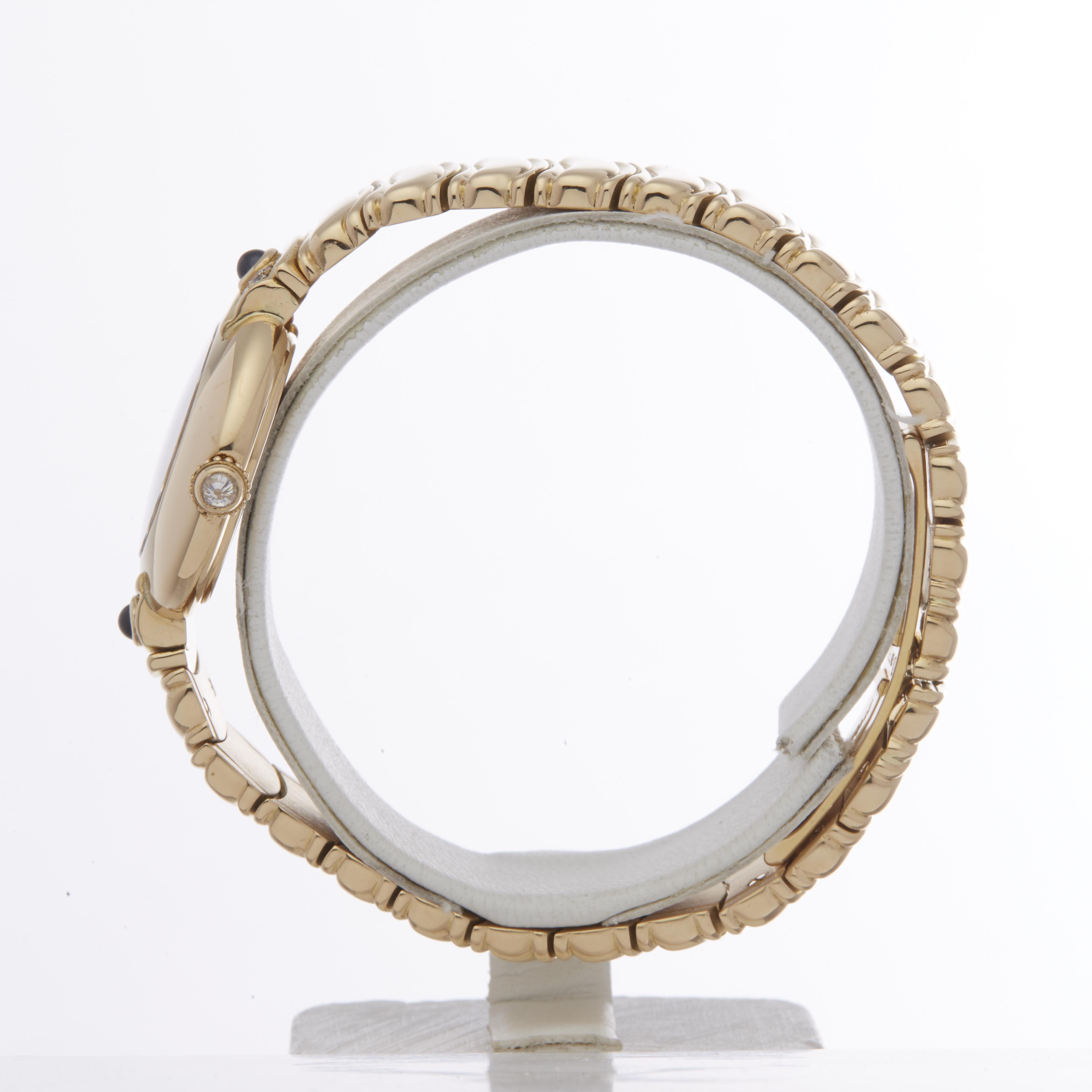 Cartier Vendome 878999 Ladies Yellow Gold Paris Mecanique Diamond Watch - Image 5 of 6