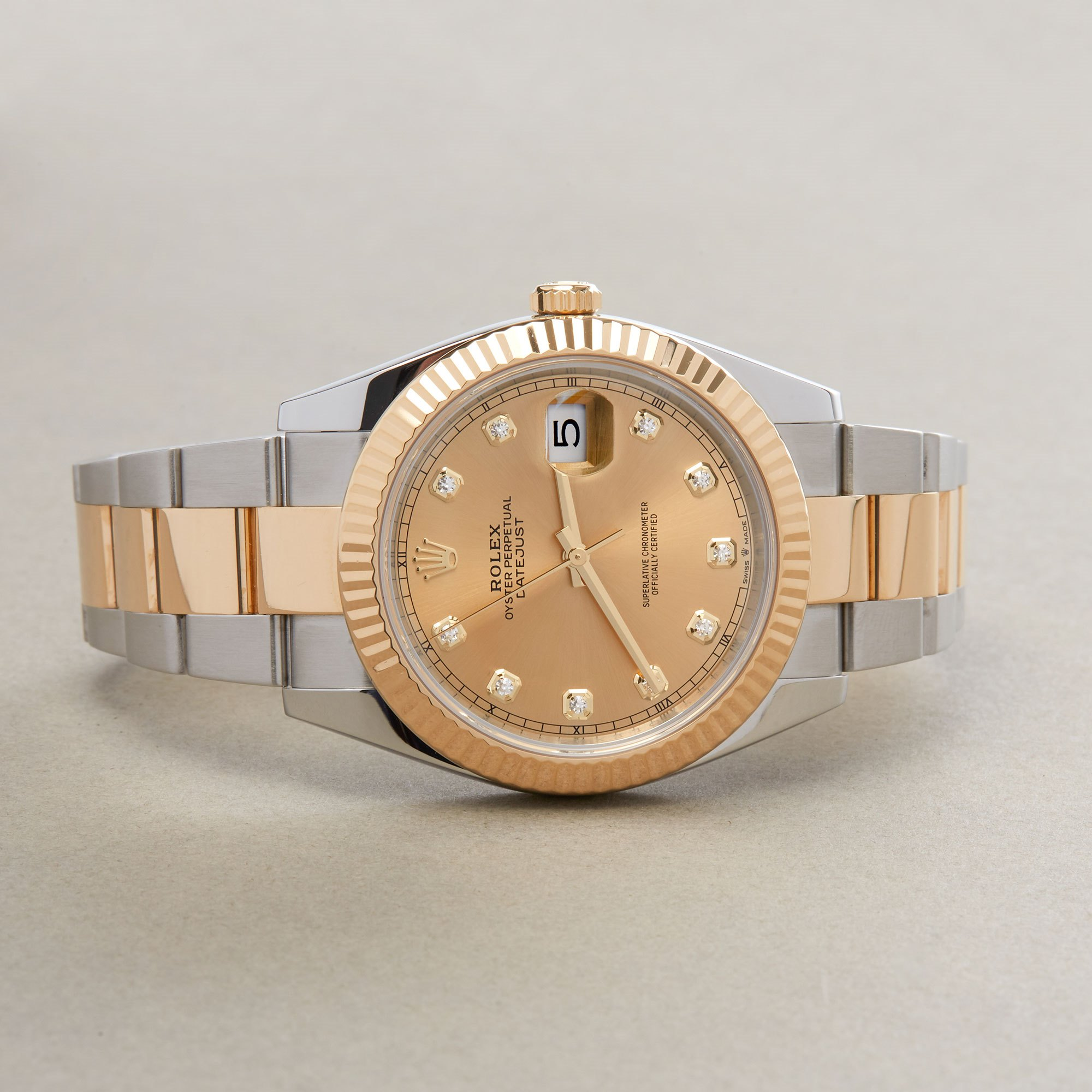 Rolex Datejust 41 126333 Men Yellow Gold & Stainless Steel Diamond Watch - Image 6 of 10
