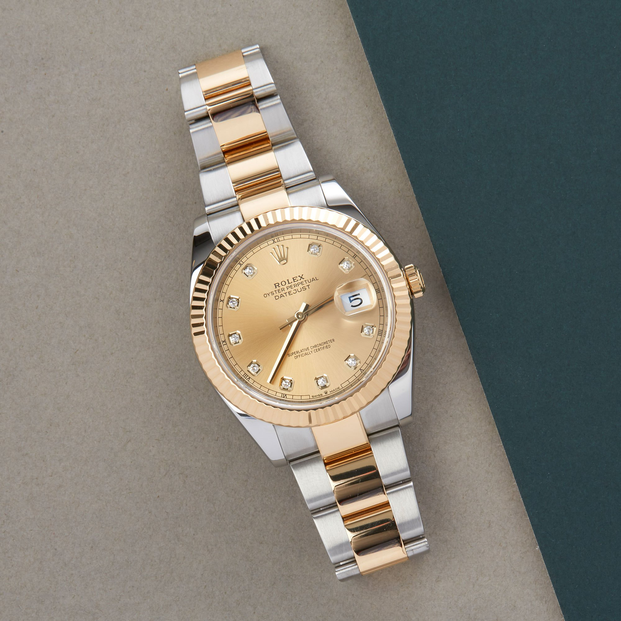 Rolex Datejust 41 126333 Men Yellow Gold & Stainless Steel Diamond Watch - Image 10 of 10
