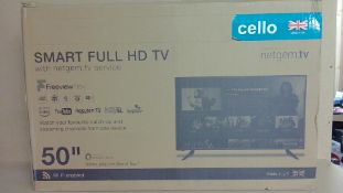"""Cello 50"""" Smart Full HD TV (for spares and repair only)"""
