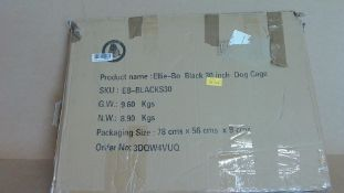 "Ellie Bo Black 30""Dog Cage (new)"