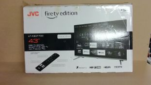"""JVC 43"""" Fire TV Edition Smart FHD Led TV (for spares and repair only)"""