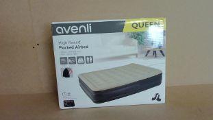 Avenli High Raised Flock Airbed Double - Customer Returns