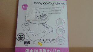 Jive Baby Go Round Red Kite Baby Walker - Customer Returns