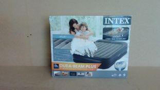 Intex Bura Beam Plus Double Blow Up Bed - Customer Returns
