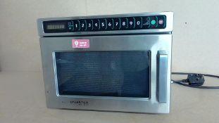Menumaster Model DEC14E2 Commercial Microwave - Working Customer Return