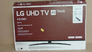 """LG UHD TV 43"""" (for spares and repair only)"""