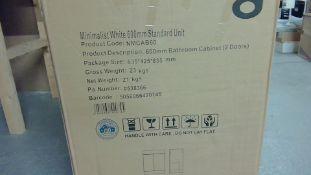 Minimalist White 600 mm Standard Unit Customer Return