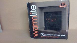 Warmlite 2000w Log Effect Stove Fire Customer Returns