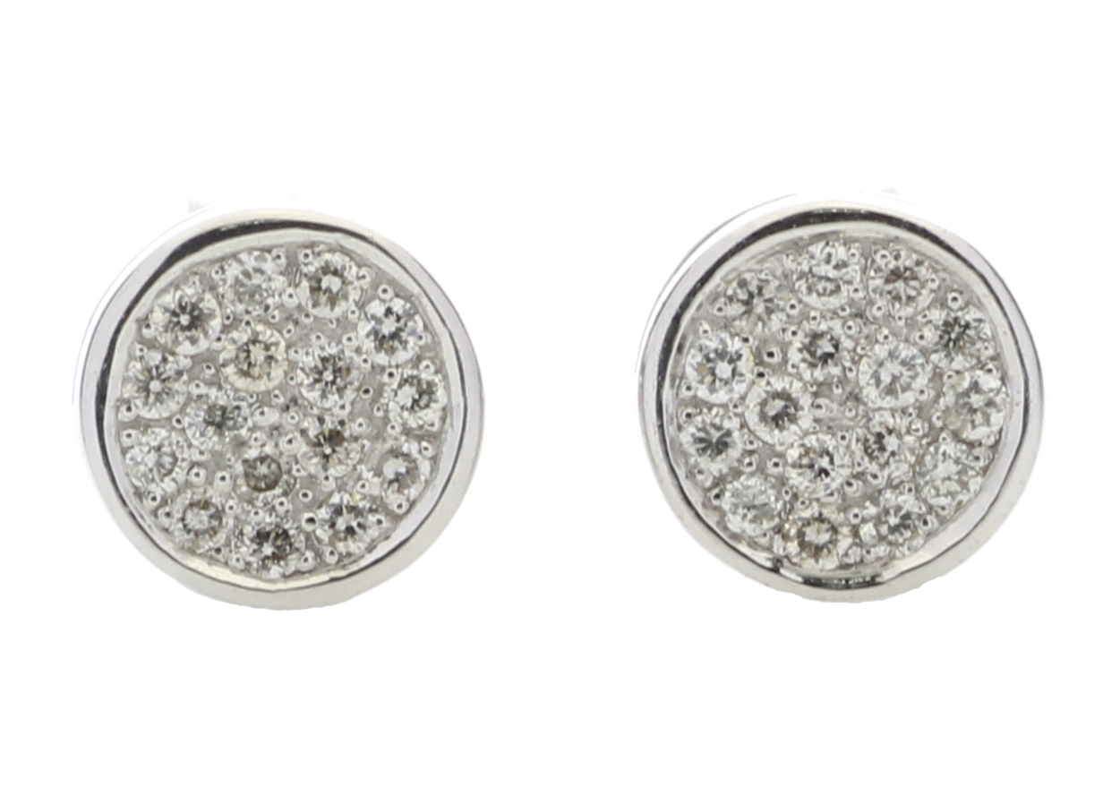 9ct White Gold Diamond Cluster Earring 0.16 Carats