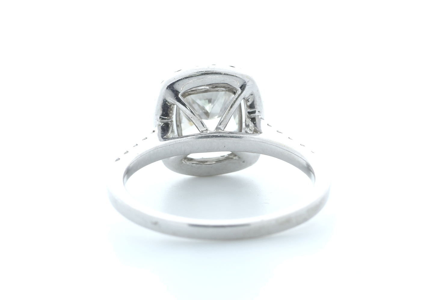18ct White Gold Single Stone With Halo Setting Ring 2.63 (2.13) Carats - Image 3 of 5