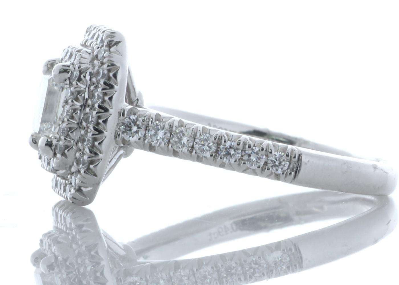 Platinum Single Stone With Halo Setting Ring 0.99 Carats - Image 4 of 4