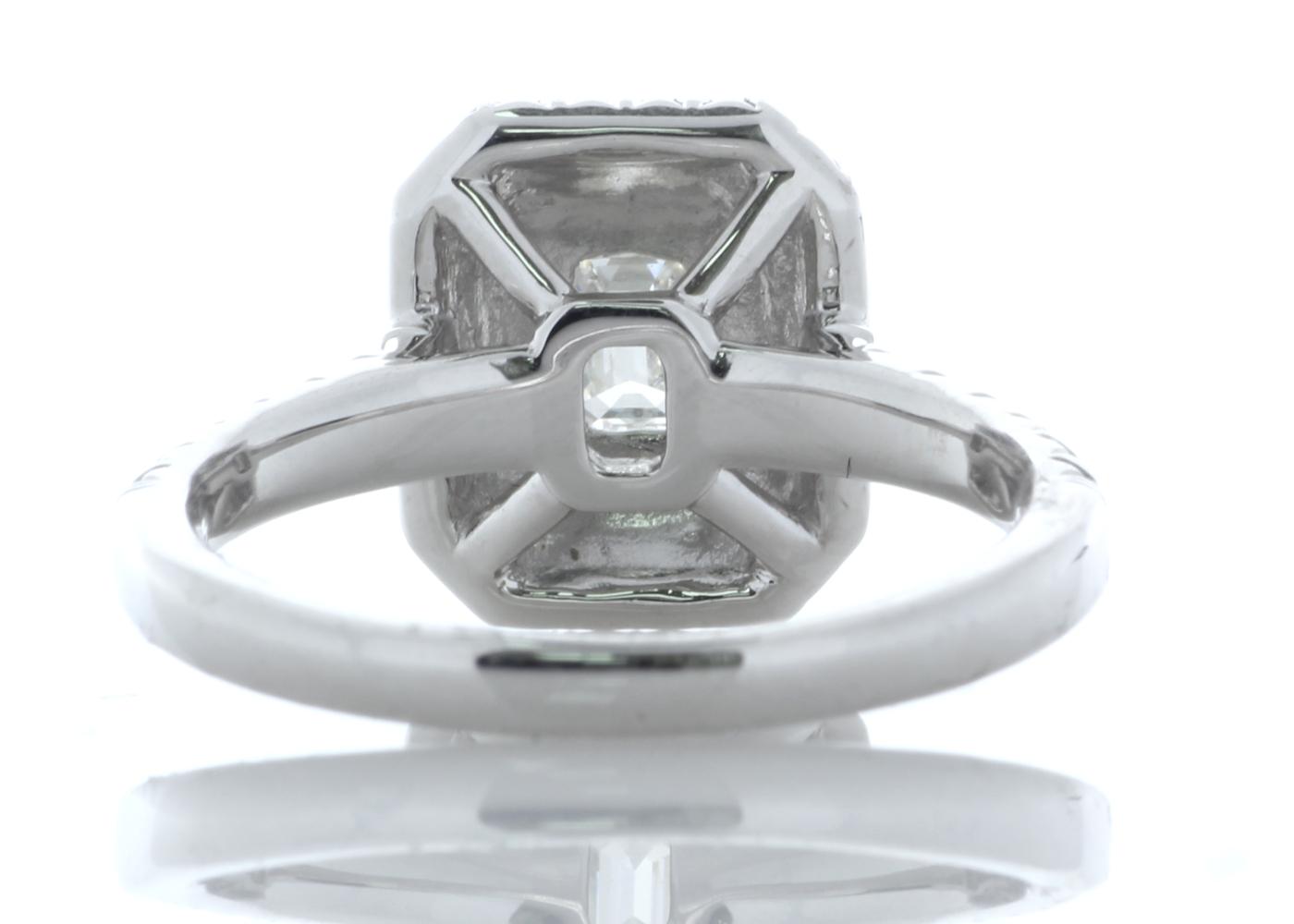 Platinum Single Stone With Halo Setting Ring 0.99 Carats - Image 3 of 4