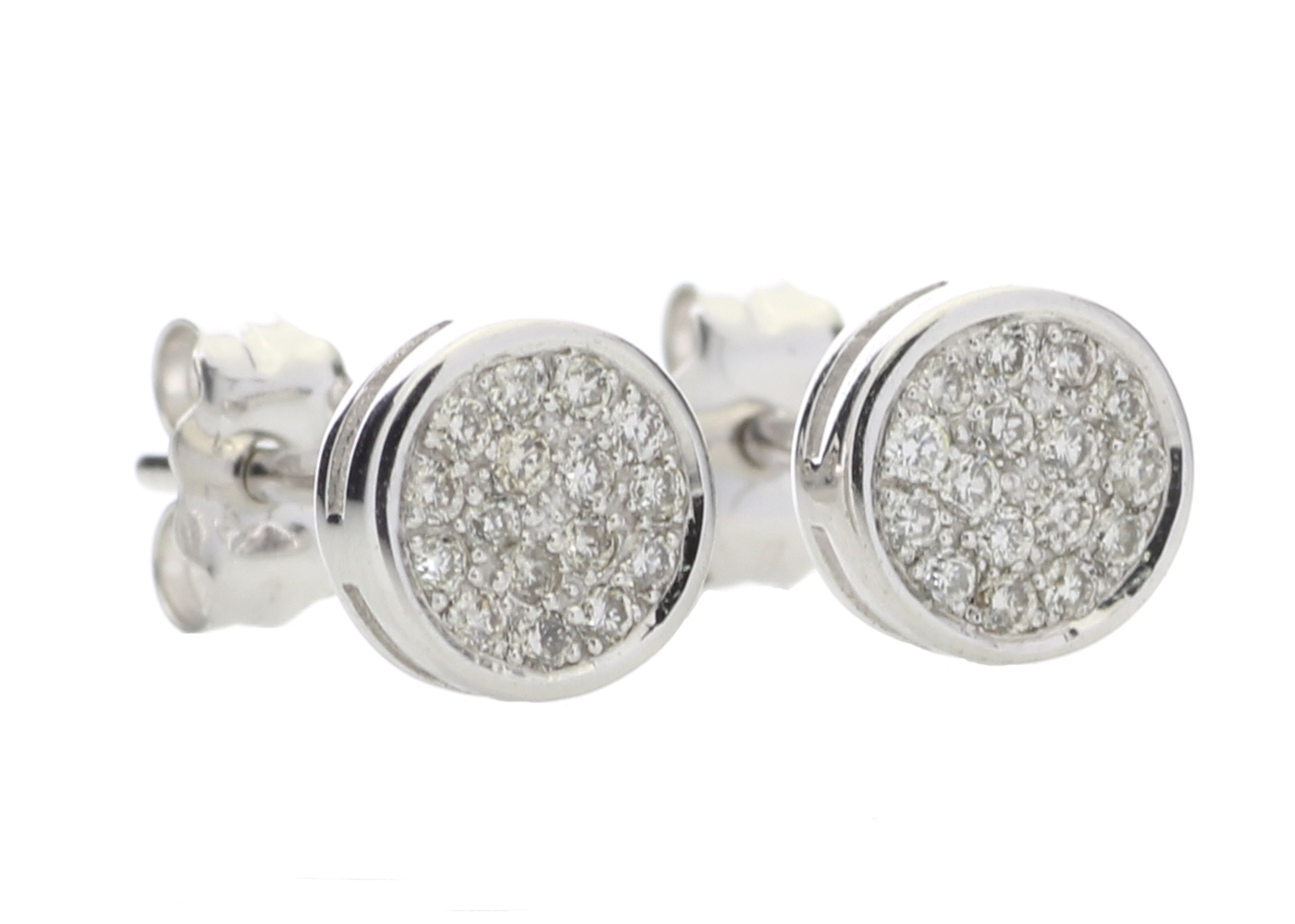 9ct White Gold Diamond Cluster Earring 0.16 Carats - Image 4 of 4