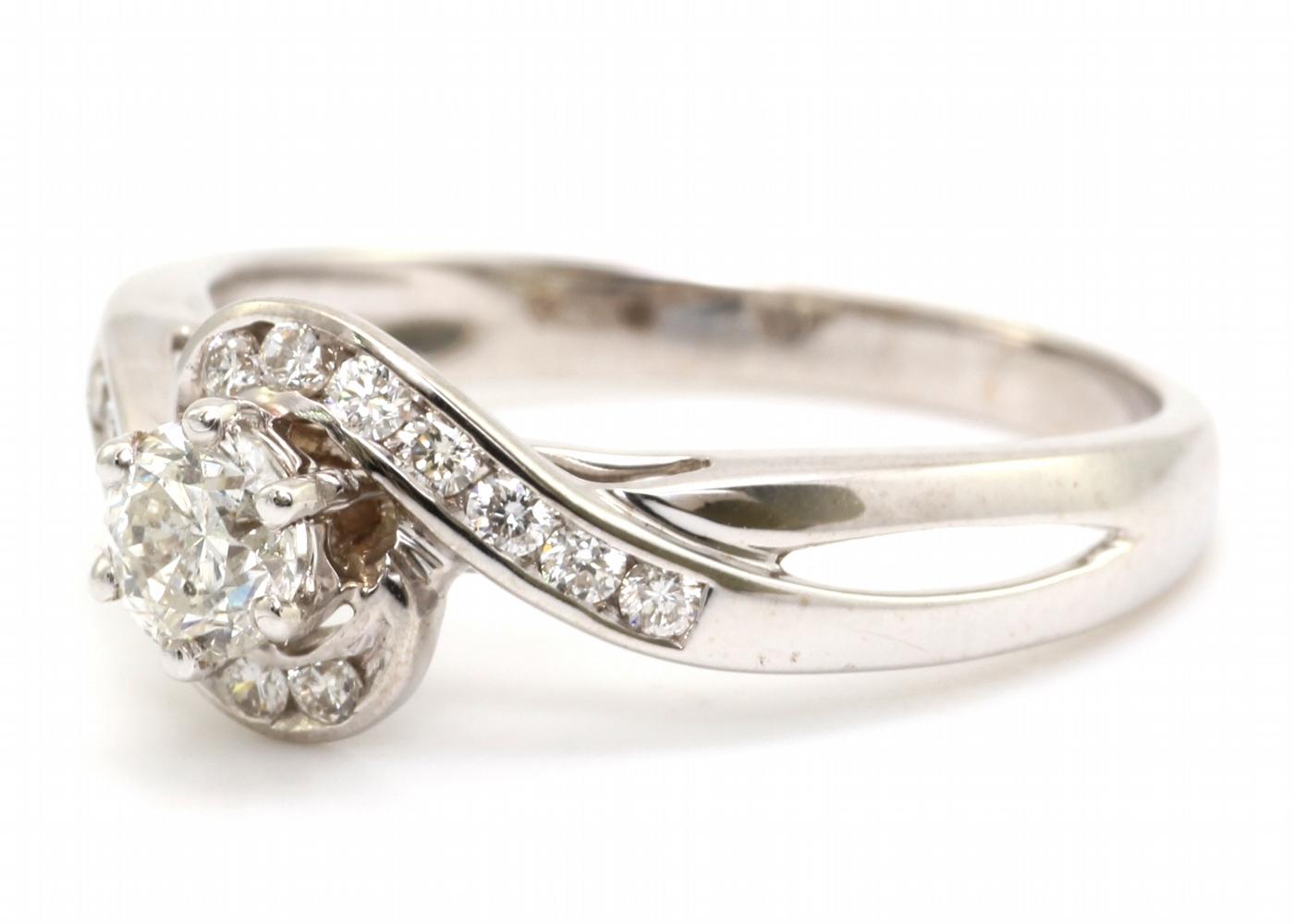 18ct White Gold Twist Diamond Ring 0.54 Carats - Image 2 of 4