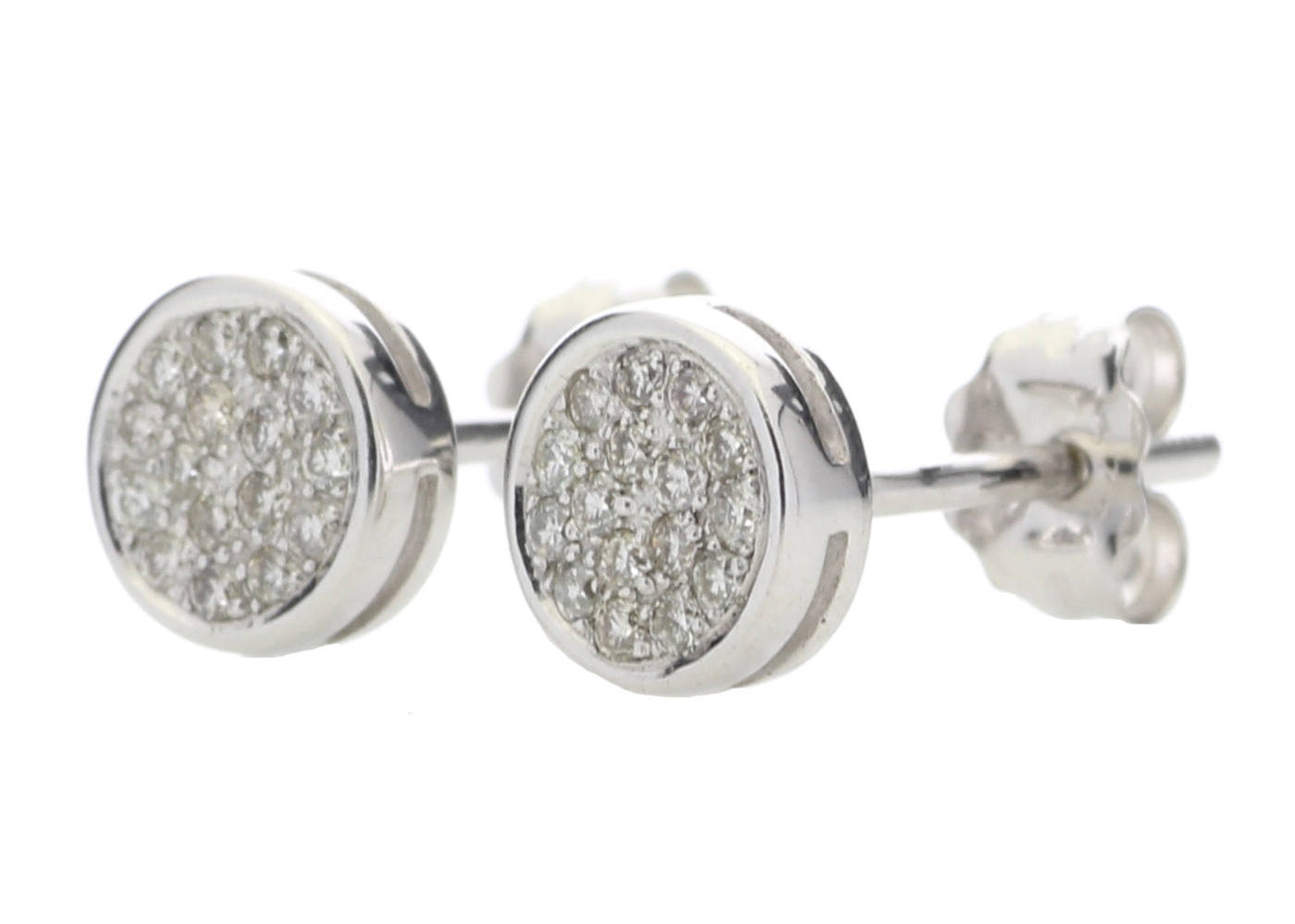 9ct White Gold Diamond Cluster Earring 0.16 Carats - Image 2 of 4