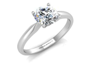 18ct White Gold D Flawless Diamond Enagagement Ring 0.50 Carats