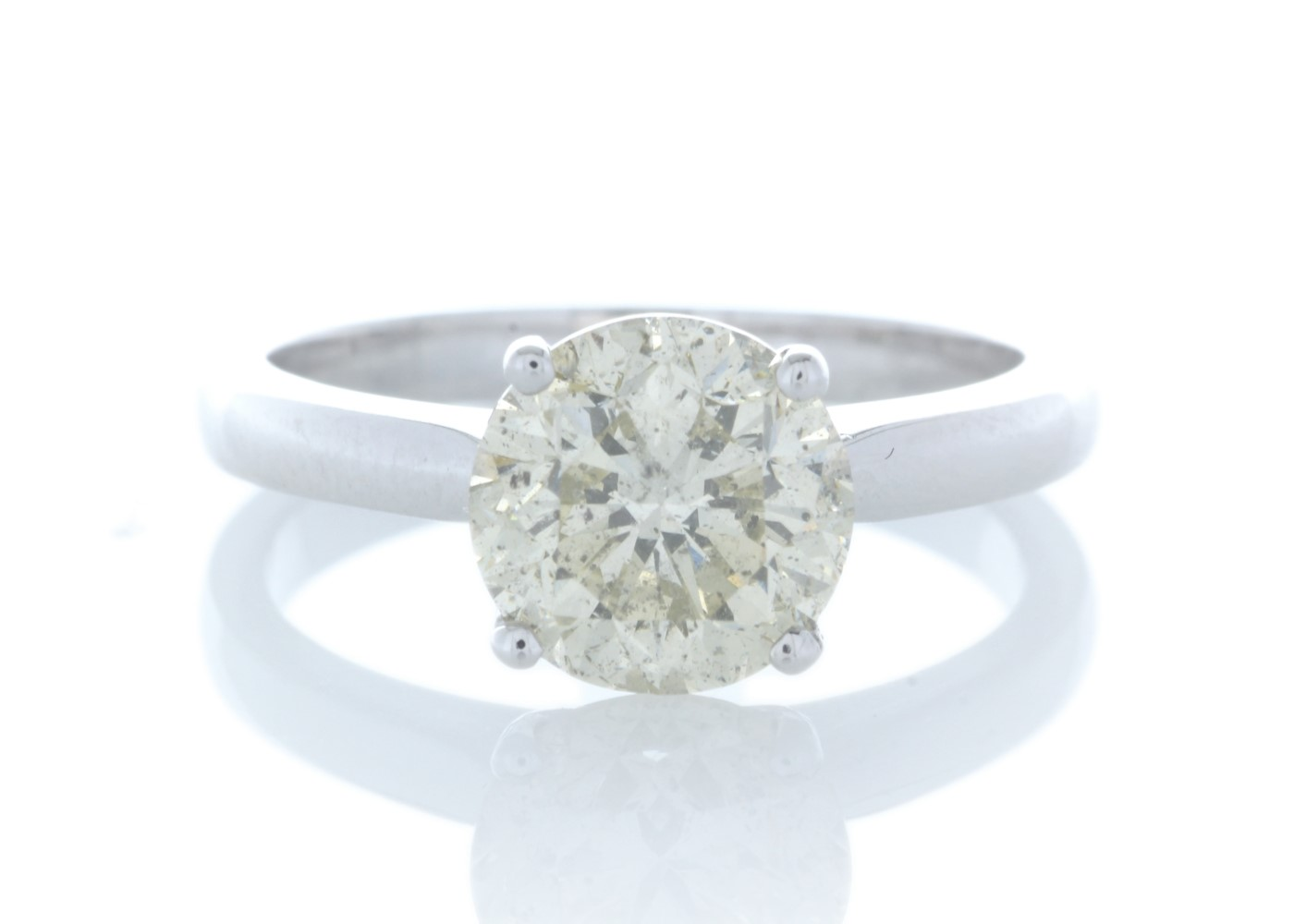 18ct White Gold Rex Set Diamond Ring 2.29 Carats
