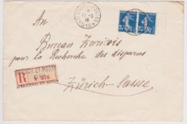 The Serbian Army - In Exile on Corfu - Postal System. Corfu-Zurich-Switzerland.
