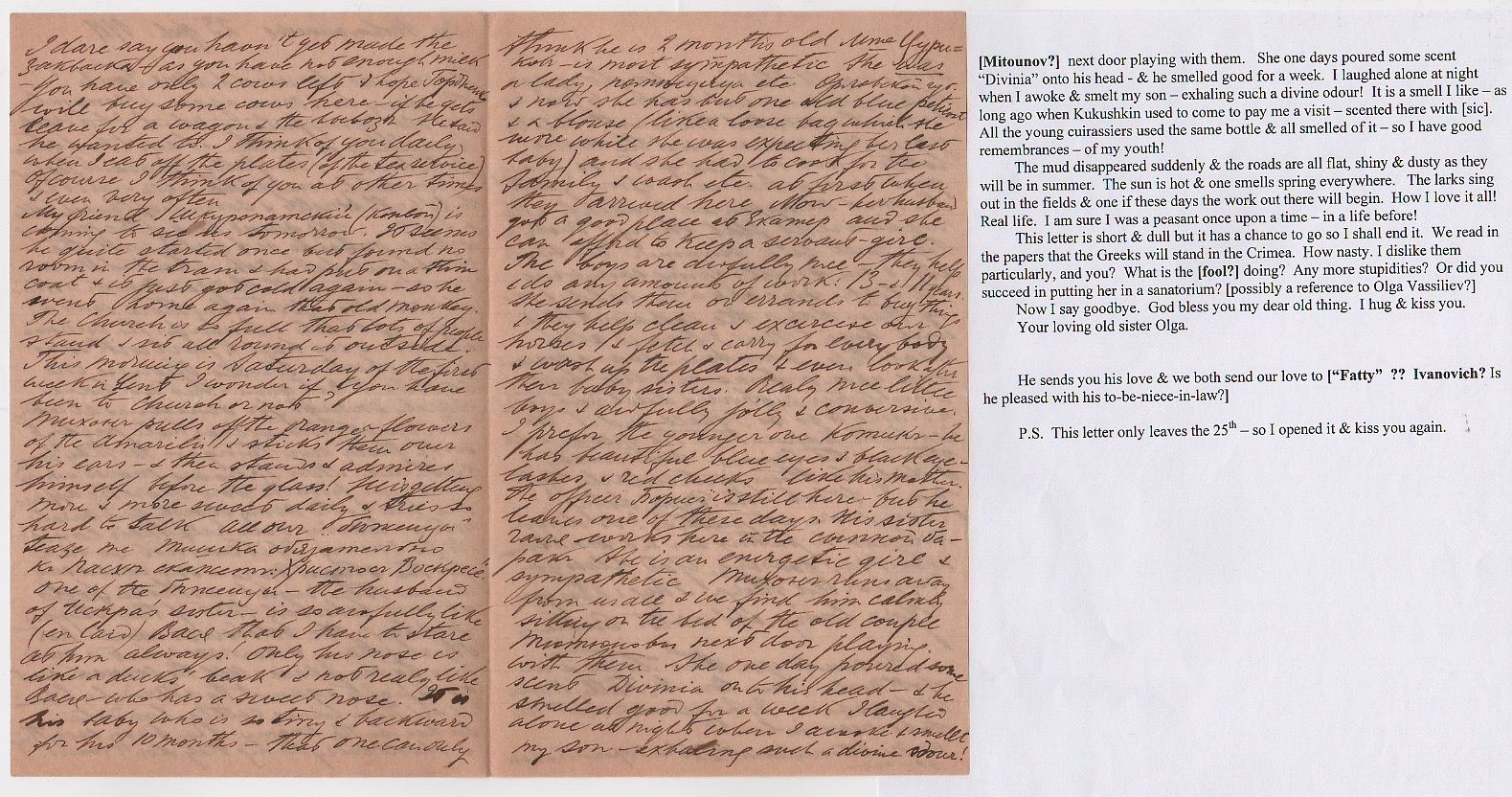 Royalty Grand Duchess Olga Correspondence To Her Sister Grand Duchess Xenia 1916-1920 - Image 11 of 47