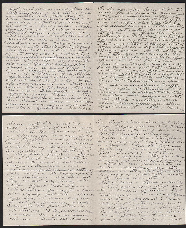Royalty Grand Duchess Olga Correspondence To Her Sister Grand Duchess Xenia 1916-1920 - Image 26 of 47
