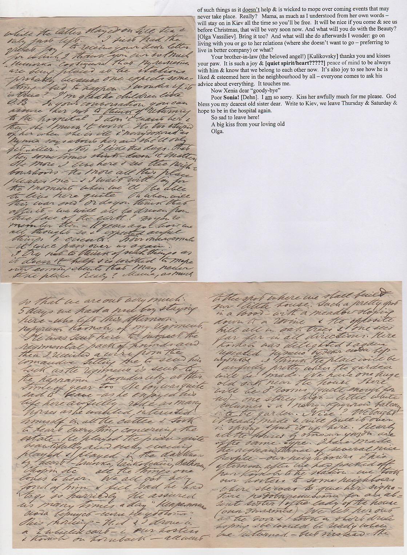 Royalty Grand Duchess Olga Correspondence To Her Sister Grand Duchess Xenia 1916-1920 - Image 17 of 47