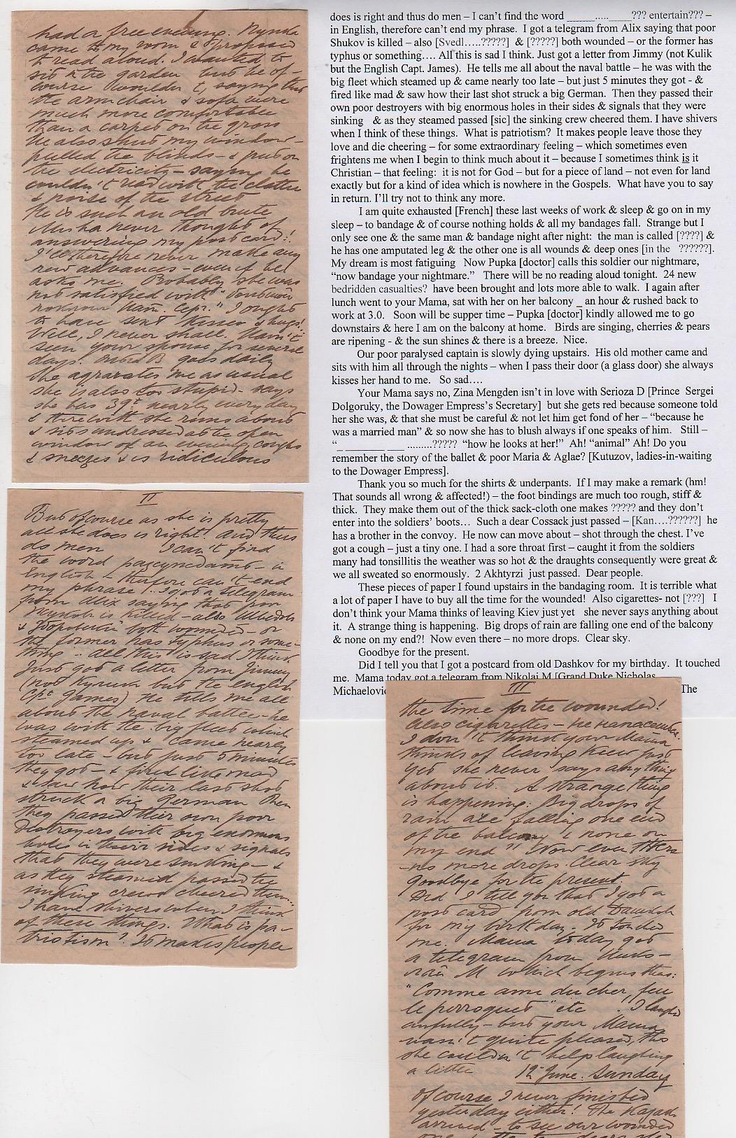 Royalty Grand Duchess Olga Correspondence To Her Sister Grand Duchess Xenia 1916-1920 - Image 39 of 47