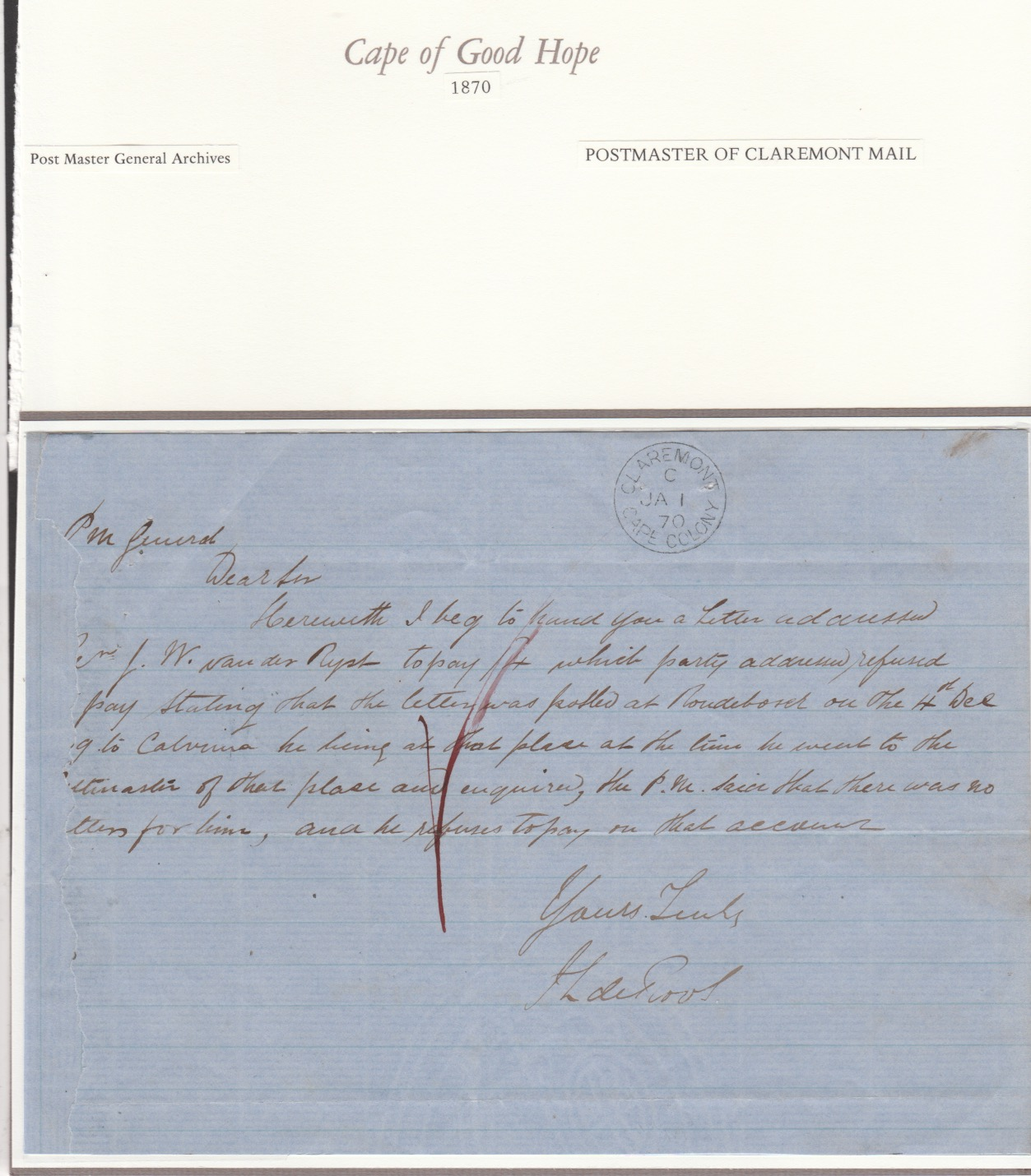 Cape of Good Hope 1870