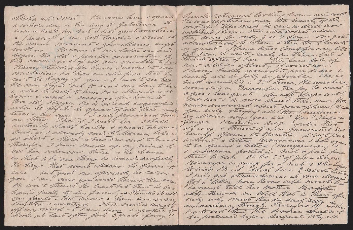 Royalty Grand Duchess Olga Correspondence To Her Sister Grand Duchess Xenia 1916-1920 - Image 42 of 47